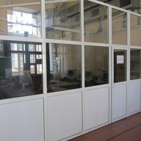 Офисные перегородки из ПВХ со стеклопакетами