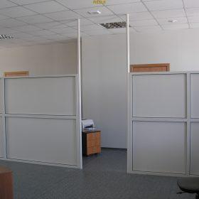 Офисные перегородки со стеклом и алюминием с жалюзи