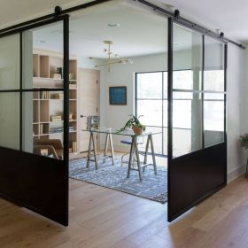 Сдвижные стеклянные перегородки