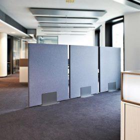 Звукопоглощающие мобильные перегородки для офиса